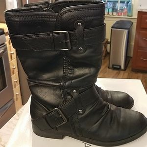 Black combat style boots